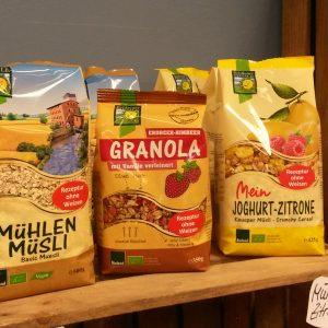 Müsli, Getreide & Hülsenfrüchte